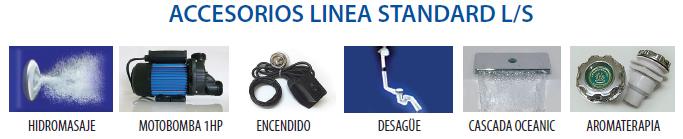 Accesorios Línea Standard de tinas de hidromasaje Oceanic
