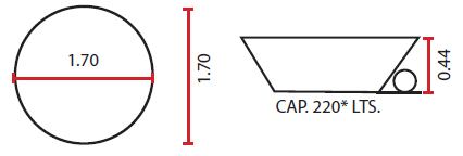 Medidas de tina modelo Nilo - Oceanic